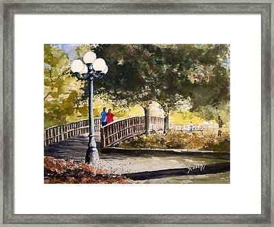 A Walk In The Park Framed Print by Sam Sidders
