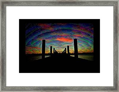 A Walk To Eternity Framed Print by Michele Kaiser