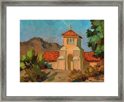 A Warm Day At Borrego Springs Lutheran Framed Print by Diane McClary