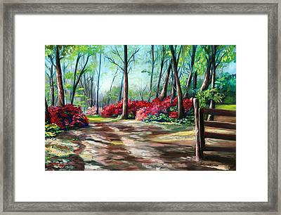 A Warm Welcome Framed Print by Eve  Wheeler