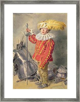 A Warrior Bold Framed Print by William Henry Hunt
