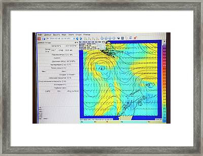 A Weather Readout For The Drake Passage Framed Print by Ashley Cooper
