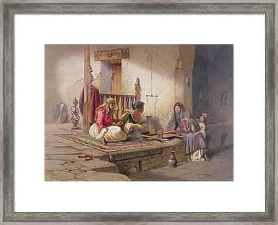 A Weaver In Esna, One Of 24 Framed Print by Carl Friedrich Heinrich Werner