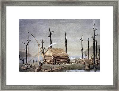 A Western Farm Site, 1822 Framed Print by Granger