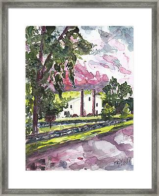 A Weston House After Rainfall Framed Print by Nancy Wilt
