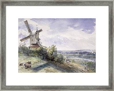 A Windmill At Stoke By Nayland Framed Print by John Constable