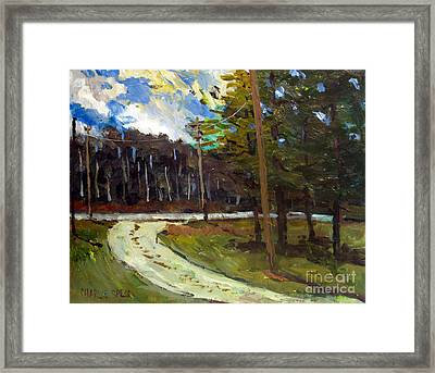 A Windy Chill Framed Print by Charlie Spear