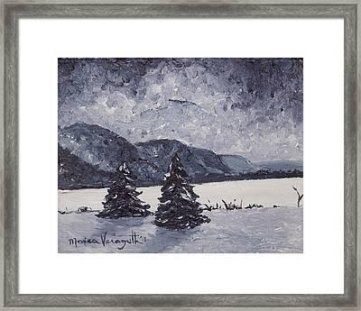 A Winter Evening Framed Print by Monica Veraguth