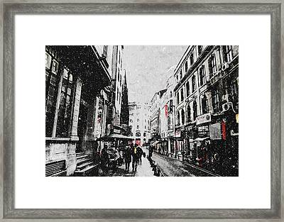 A Winter Scene Framed Print by Taylan Soyturk