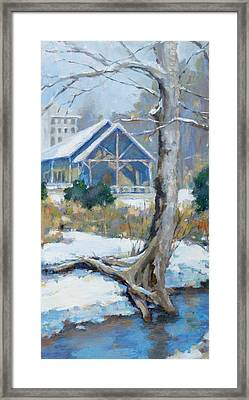 A Winter Walk In The Park Framed Print by Sandra Harris