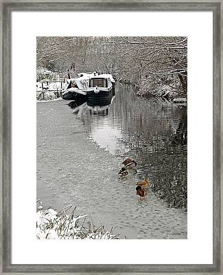 A Winters Day On The River Framed Print by Gill Billington