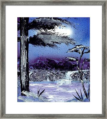 A Winters Valley Framed Print by Marc Chambers