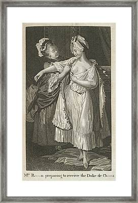 A Woman Getting Dressed Framed Print by British Library