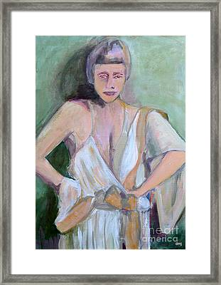 A Woman In Love Framed Print by Diane montana Jansson