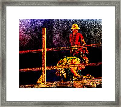 A Work Of Art  Framed Print by Dave Bosse