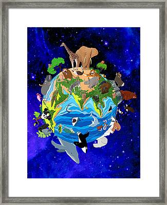 A World Of Animals Framed Print by Stephen Kinsey