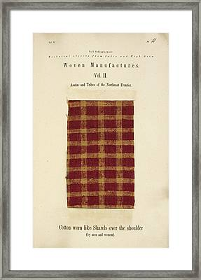 A Woven Piece Of Woollen Cloth Framed Print by British Library