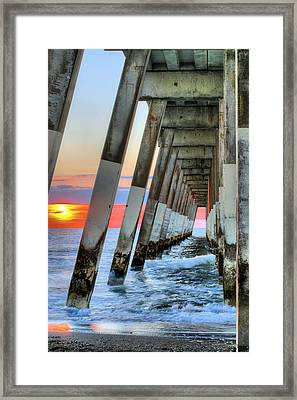 A Wrightsville Beach Morning Framed Print by JC Findley