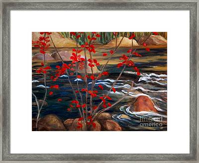 A Y Jackson The Red Maple Inspired Framed Print by Sherrill McCall