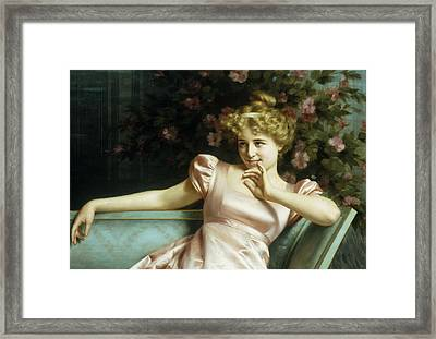 A Young Beauty Framed Print by Vittorio Reggianini