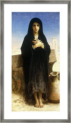 A Young Fellah Girl Framed Print by William Adolphe Bouguereau
