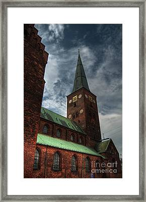 Aarhus Church Hdr 03 Framed Print by Antony McAulay