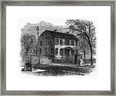 Aaron Burr Birthplace Framed Print by Granger