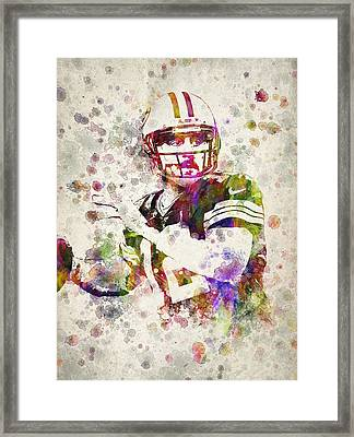 Aaron Rodgers Framed Print by Aged Pixel