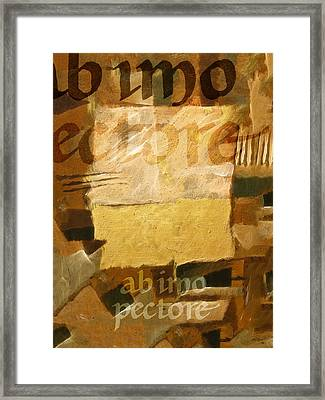 Ab Imo Pectore Golden Framed Print by Lutz Baar