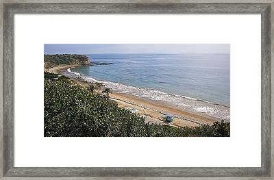 Abalone Cove Framed Print by Ron Regalado