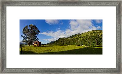 Abandoned Barn In A Field, Canterbury Framed Print by Panoramic Images