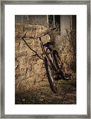 Abandoned Bicycle Framed Print by Amber Kresge