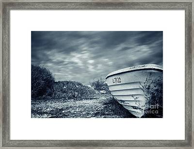 Abandoned Boat Framed Print by Stelios Kleanthous