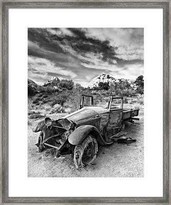 Abandoned Car Framed Print by Alexis Birkill