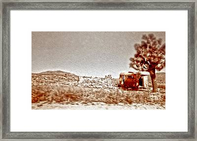 Abandoned Desert Trailer Framed Print by Gregory Dyer