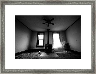 Abandoned Fireplace Framed Print by Cale Best