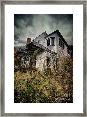 Abandoned Hotel Hdr Framed Print by Amy Cicconi