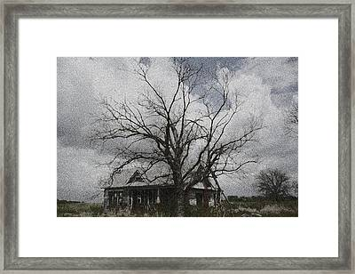 Abandoned House Framed Print by Donna G Smith