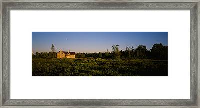 Abandoned House In A Field, Ellenburg Framed Print by Panoramic Images