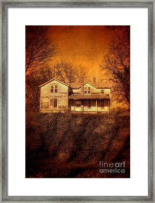 Abandoned House Sunset Framed Print by Jill Battaglia