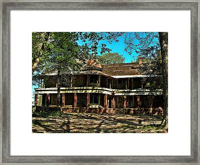 Abandoned Mansion Framed Print by Kristie  Bonnewell