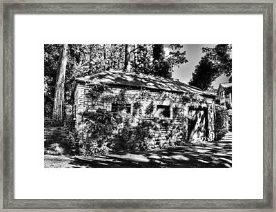 Abandoned Mono Framed Print by Steve Purnell