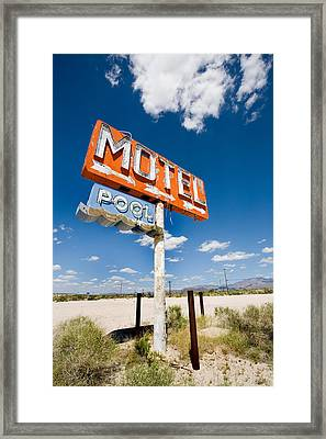 Abandoned Motel Framed Print by Peter Tellone