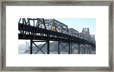 Abandoned Old Bridge And Yerba Buena Framed Print by Panoramic Images