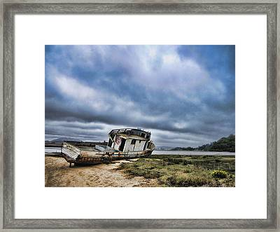 Abandoned On The Beach Framed Print by Nancy Ingersoll