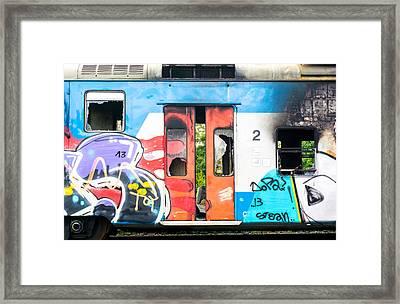 Abandoned Rail Car Framed Print by Jim Hughes