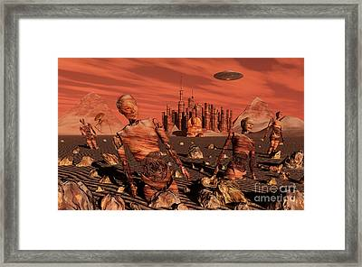 Abandoned Relics From An Advanced Framed Print by Stocktrek Images