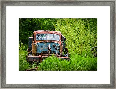 Abandoned Truck In Rural Michigan Framed Print by Adam Romanowicz