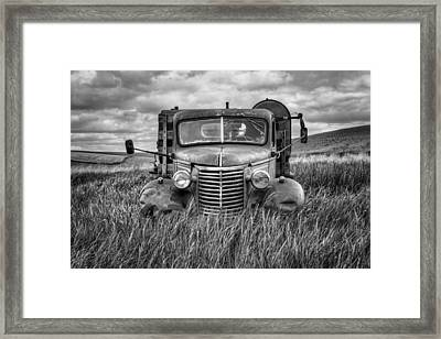 Abandoned Work Truck - Chevy - Palouse Framed Print by Nikolyn McDonald