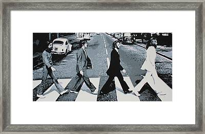Abbey Road 2013 Framed Print by Luis Ludzska